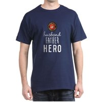 USMC Husband Father Hero - 100% Cotton T-Shirt