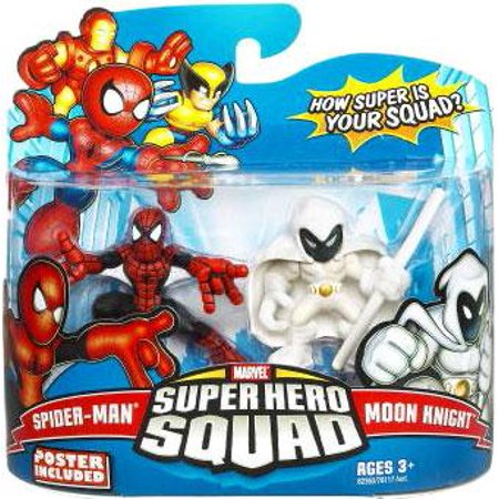 Marvel Super Hero Squad Series 16 Spider-Man & Moon Knight Action Figure 2-Pack
