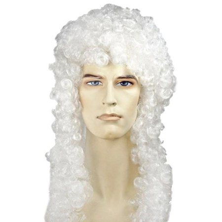 Judge Special Bargain White Wig Costume - Judge Wig
