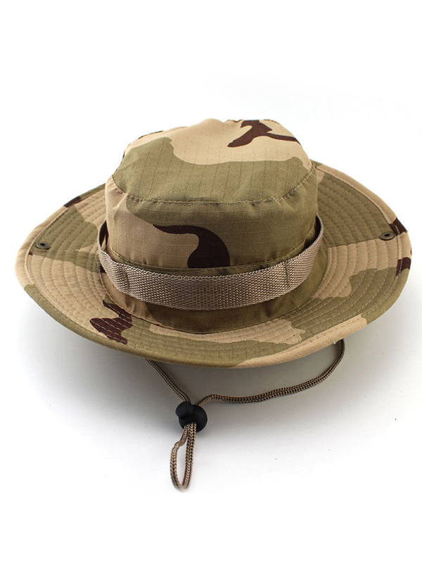 Fishing Hiking Boonie Snap Brim Military Bucket Sun Hat Camo LARGE Digital 60