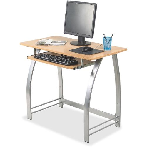 "Lorell Maple Laminate Computer Desk - Rectangle Top - 36.20"" Table Top Width x 19"" Table Top Depth - 30"" Height - Assemb"