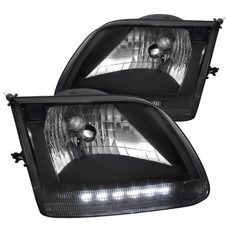 Spec-D Tuning Ford 1997-2003 F150 Truck Led Head Lights 1997 1998 1999 2000 2001 2002 2003 (Left + (2001 Ford Pickup Truck Headlights)