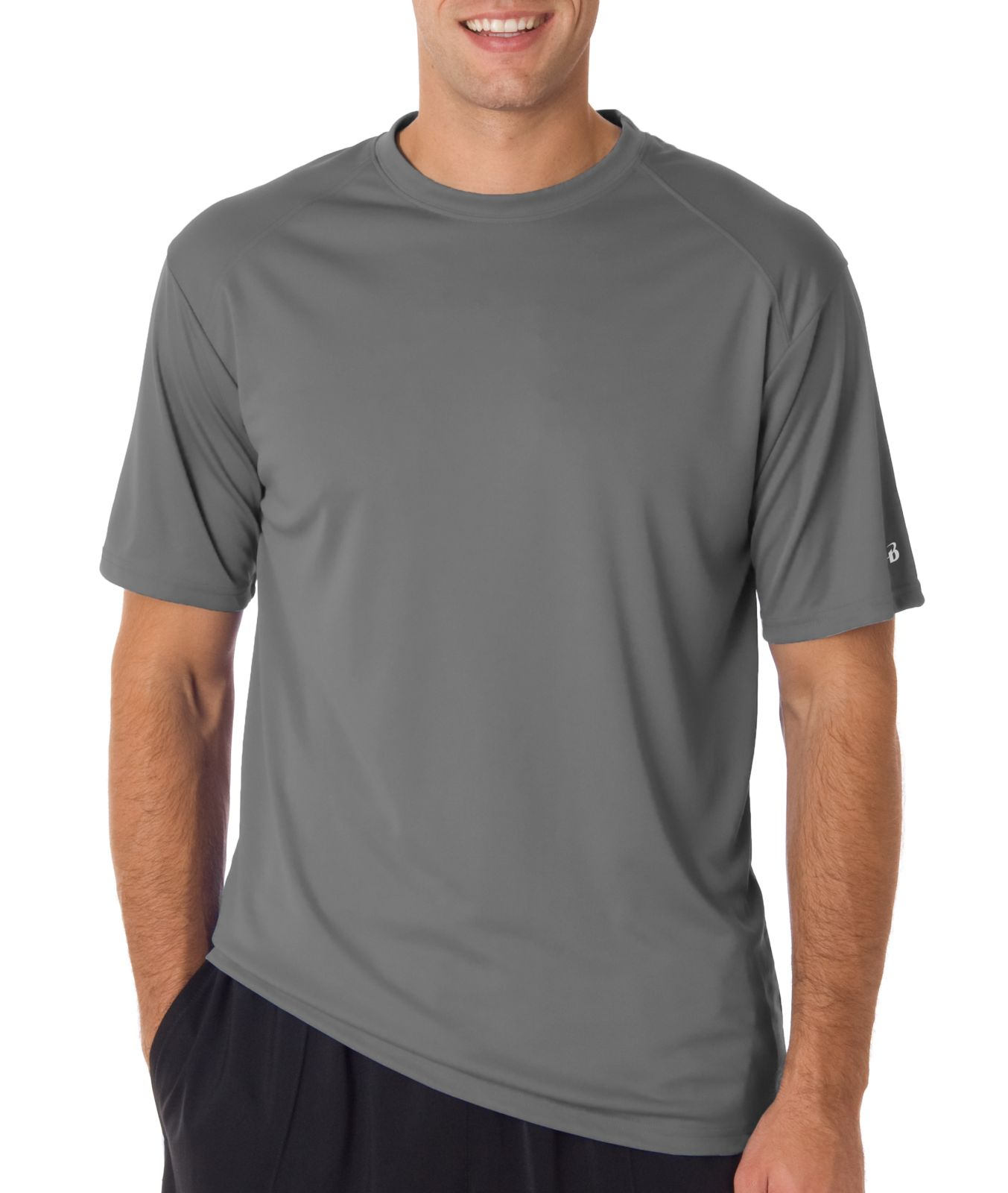 16fd34ae Badger T-Shirt 4120 Crew Mens B-Core Short-Sleeve Performance Tee