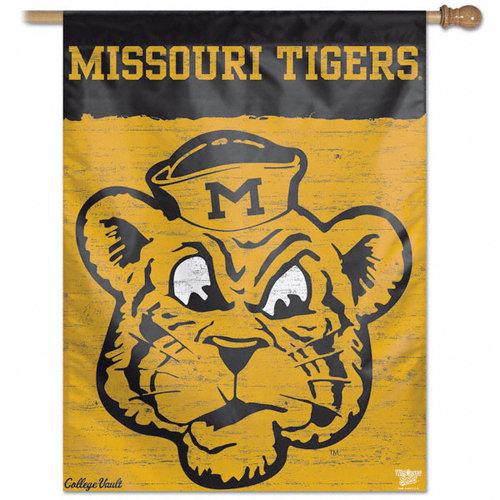 NCAA - Missouri Tigers Vintage Vertical Flag: 27x37 Banner