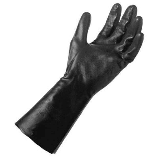 Big Time Products 242576 Mens Large Grease Monkey Black Long Cuff Neoprene Glove