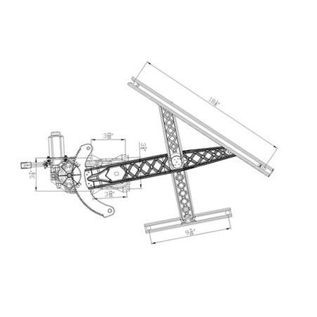 NEW FRONT RIGHT WINDOW REGULATOR FITS 02 03 LINCOLN