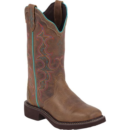 Justin Women's Gypsy Vibrant Embroidered Cowgirl Boot Square Toe - L2900 (Justin Boots Womens)