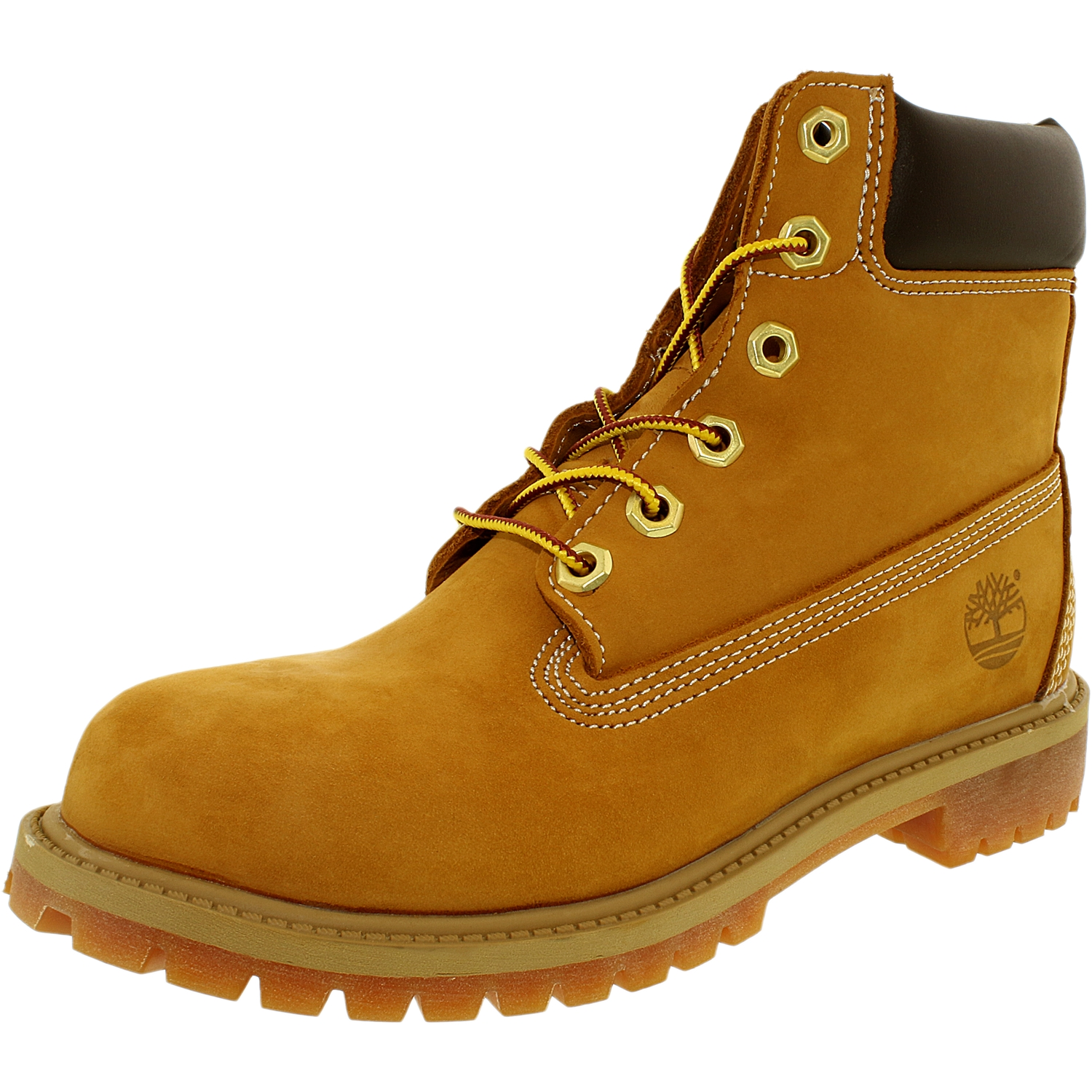 Timberland Boy's 6 Inch Premium Boot Nubuck Wheat Yellow Ankle-High Leather - 4.5M