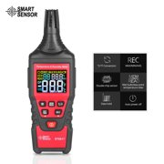 SMART SENSOR ST6817 Handheld Temperature Humidity Meter LCD Backlight Digital Psychrometer Thermo-hygrometer Hygrometer Thermometer Gauge Tester with Dew Point Bulb Temperature Storage Bag Batteries