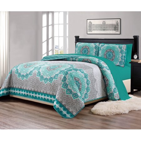 Fancy Linen 7pc Kingcalifornia King Size Bedspread Quilt Over Size