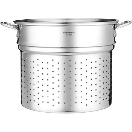 - Generic 20 Qt. Stainless Steamer Insert with Self, Draining Clip