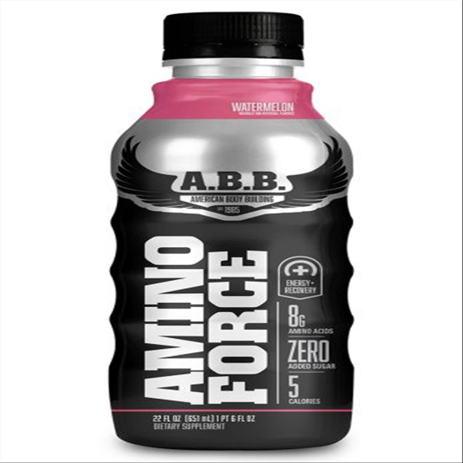 Image of A.B.B. Amino Force 22 Fl Oz Bottles, Watermelon, Pack of 12