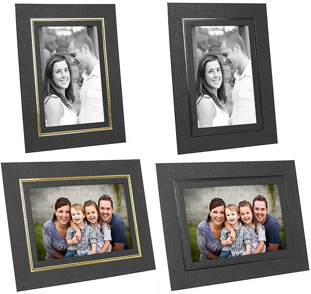 Photo Frame Easel Back Cardboard 5x7 Black And White Pack Of 50