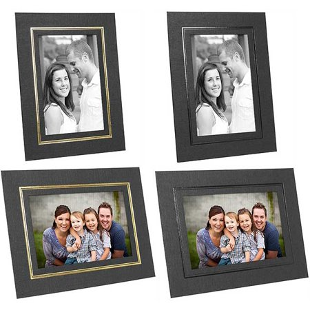 Cardboard Easel Picture Frames 5x7 Black w/Gold Foil Border (25 Pack)](Cardboard Photo Frames)