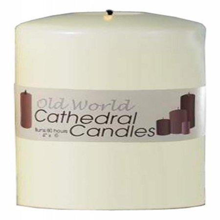 Biedermann & Sons Old World Altar Candles, 4 by 6-Inch, White, Box of - Chapel Altar