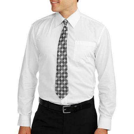 92dde2f76 ONLINE - ^^big Men's Solid Dress Shirt With Match - Walmart.com