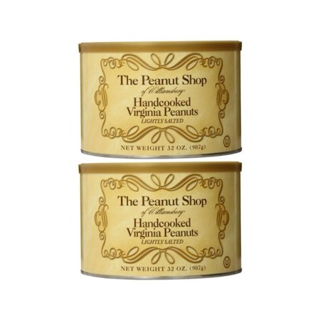 The Peanut Shop of Williamsburg Handcooked Virginia Peanuts, Lightly Salted, 32 Ounce (Pack of 2) 32 Ounce (Pack of