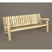Rustic Natural Cedar Furniture 6 ft. Cedar Wood Log Bench