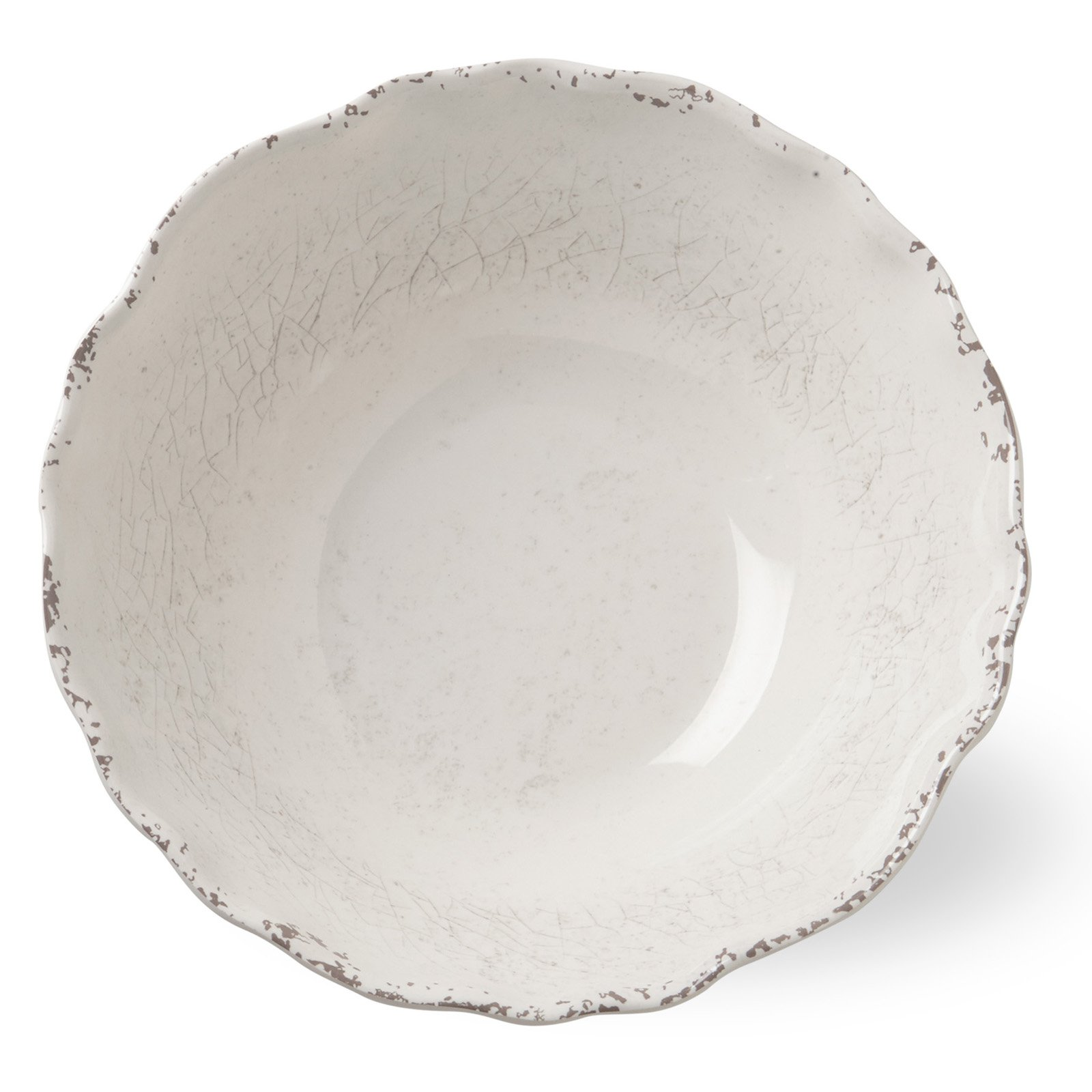 Tag Melamine Serving Bowl Ivory by Quest Products Inc