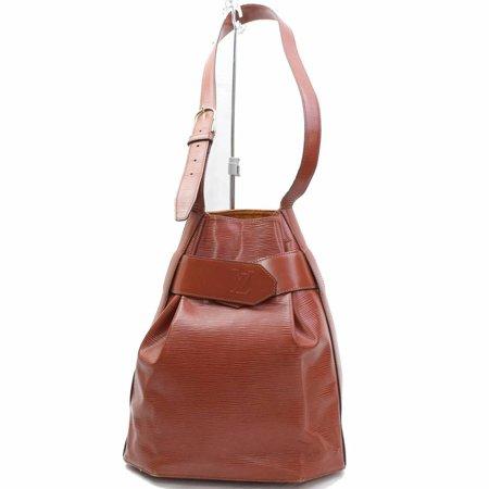 Sac D'epaule Hobo 868199 Brown Leather Shoulder (Louis Vuitton Mahina Xlarge Leather Hobo Handbag)
