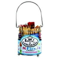 Royal Brush 1289610 Big Kids Choice Nylon Fiber Non-Slip Rubber Grip Handle Classroom Caddies Brush Set, Assorted Size, Set Of 72 Brushes And 1 Caddy