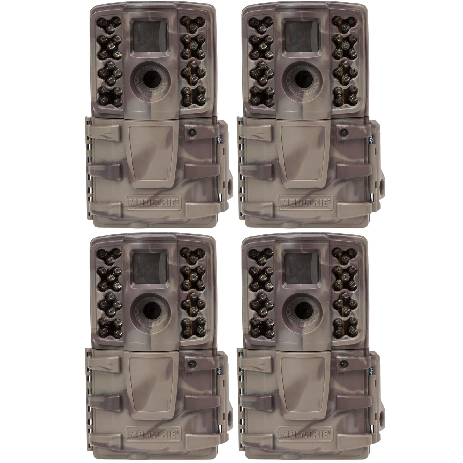 (4) Moultrie No Glow Invisible 12 MP Mini A20i Infrared Game Cameras | A-20i by Moultrie