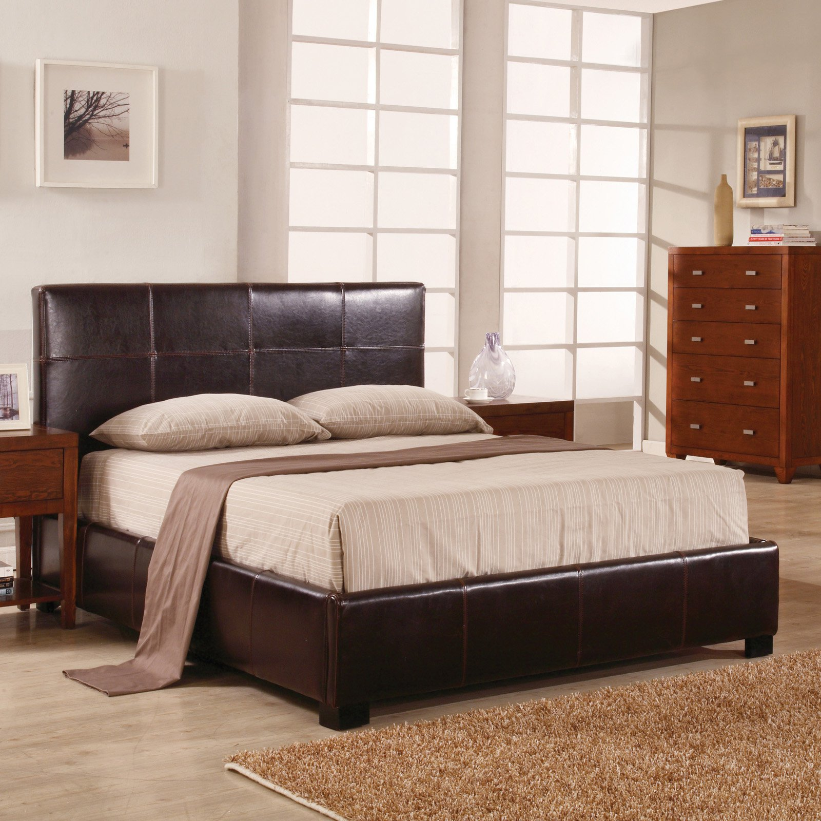 Upholstered Lucca Storage Platform Bed - Full/Double