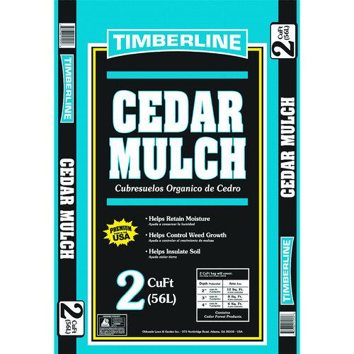 Timberline Cedar Mulch, 2 cu ft