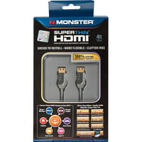 Monster Just Hook It Up Superthin HDMI Cable, 6-Feet