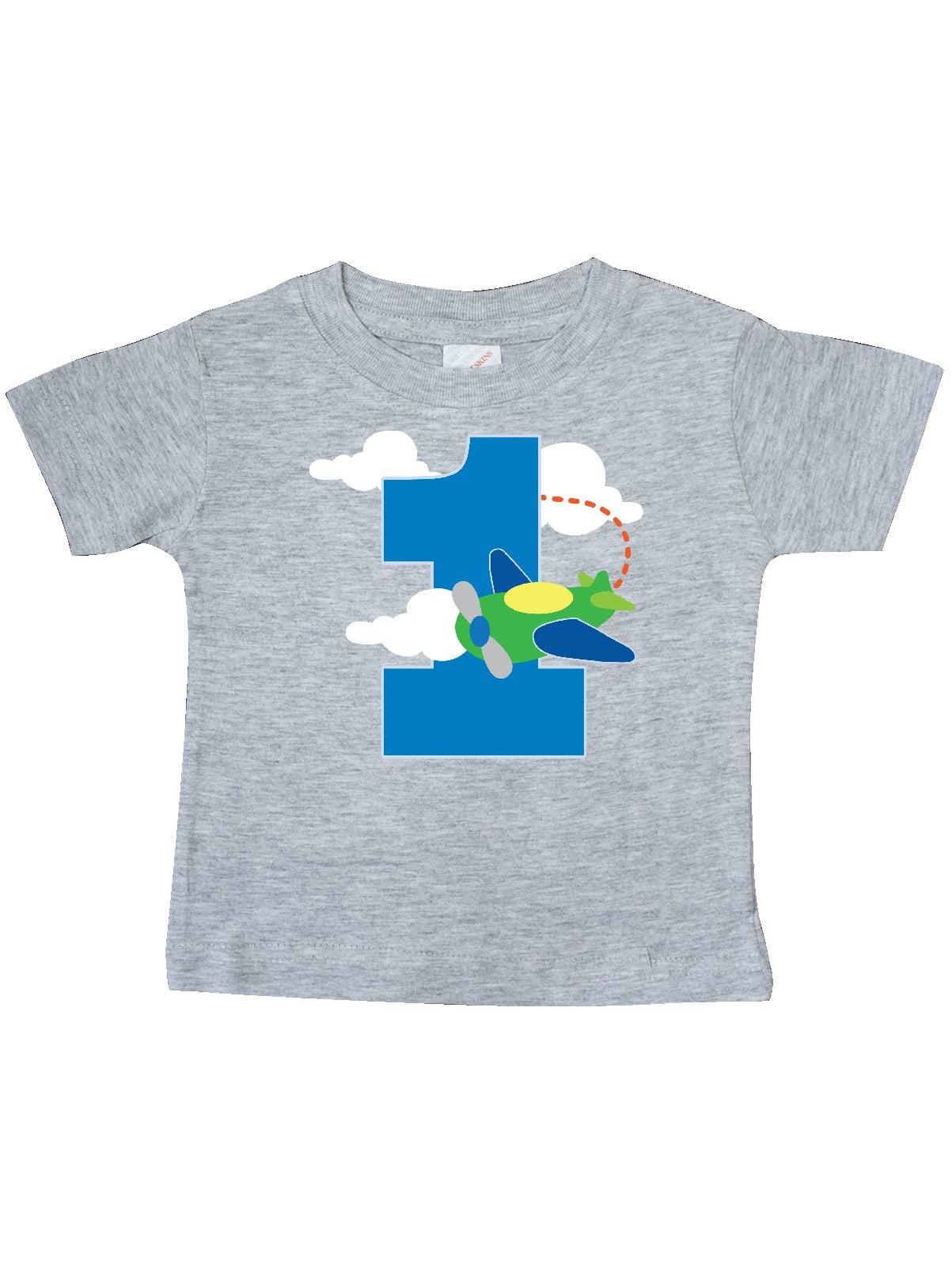1st Birthday Airplane Pilot 1 Year Boys Baby T-Shirt