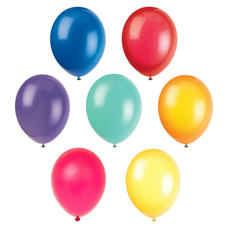 - Latex Balloons, 12 in, Assorted Color, 10ct