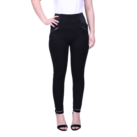 HDE Womens Plus Size Slimming Dress Pants Pull On Skinny Work Trousers  (Black, 3X)