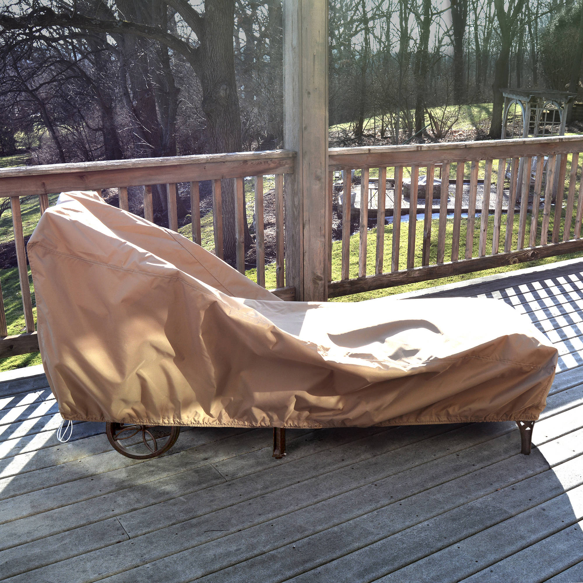 All-Weather Protective Cover for Single Chaise Lounge