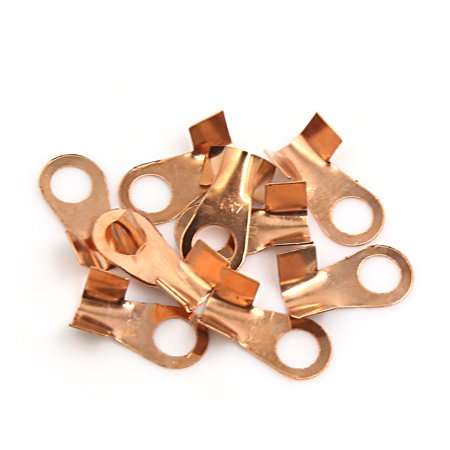 10Pcs 6mm Dia Ring Electrical Wiring Connector Terminals Plugs -