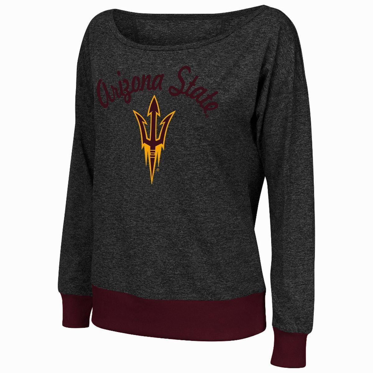 Arizona State Sun Devils Bikram Banded Bottom Charcoal Womens Tee Shirt