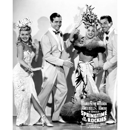 Springtime In The Rockies From Left Betty Grable John Payne Carmen Miranda Cesar Romero 1942 Tm & Copyright 20Th Century Fox Film CorpCourtesy Everett Collection Photo Print - Carmen Miranda Costumes
