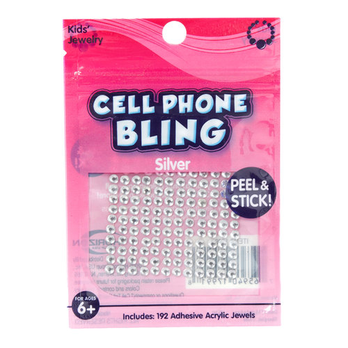 Kids Craft Cell Phone Bling, Silver