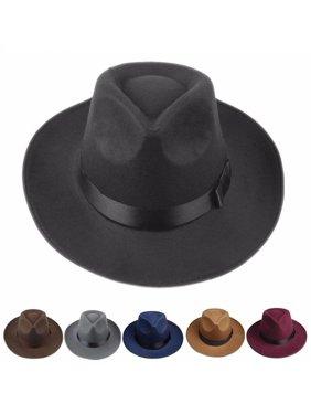 c049bdbc438d8 Product Image Girl12Queen Sun Visor Men Women Hard Felt Wide Brim Fedora  Panama Hat Autumn Vintage Cap