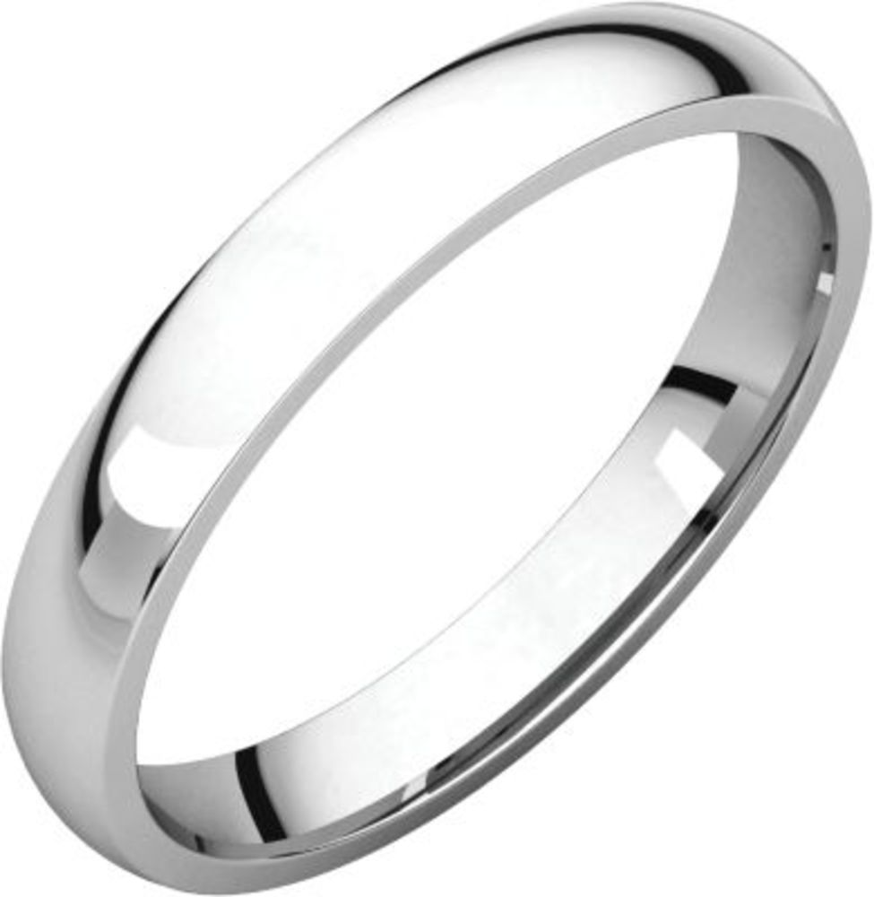 Platinum 3mm Light Comfort Fit Band - Size 13.5