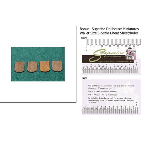 Dollhouse Miniature 250 Pcs Fishscale Cedar Shingles w/3-Scale Wallet Ruler ()