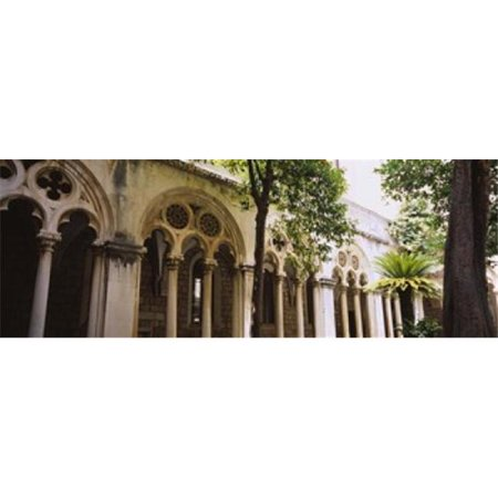 Panoramic Images PPI96780L Trees in front of a monastery  Dominican Monastery  Dubrovnik  Croatia Poster Print by Panoramic Images - 36 x 12 - image 1 of 1