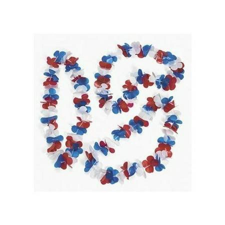 Patriotic Flower Leis - Leis Necklace