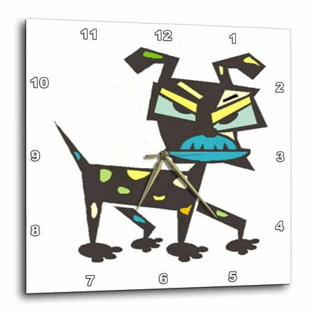 Jpg Art Dog - 3dRose Image Of An Art Deco Dog.jpg - Wall Clock, 13 by 13-inch