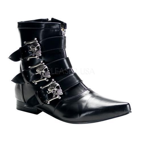 BRO06 B NPU Demonia Vegan Boots Unisex BLACK Size: 11 by