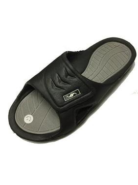 4696ad95200f14 ... YccA Beach Leisure Wear Bib Brace online retailer 64fe6 d6ae2  Product  Image 0138 Men s Rubber Slide Sandal Velcro Strap. Shoe Shack later c2e16  6fec1 ...