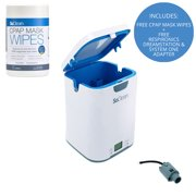 SoClean 2 CPAP Cleaner & Sanitizer (With Respironics Dreamstation System One Adapter and FREE Mask Wipes Included)