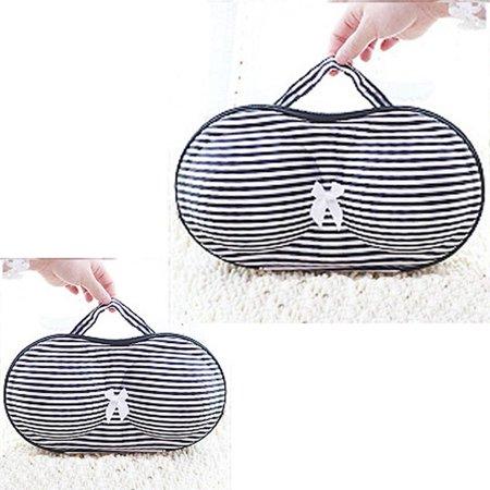 Mosunx New Stripe Protect Bra Underwear Lingerie Case Travel Bag Storage Box