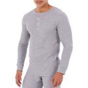 Fruit of The loom Men's Waffle Baselayer Henley Thermal Top