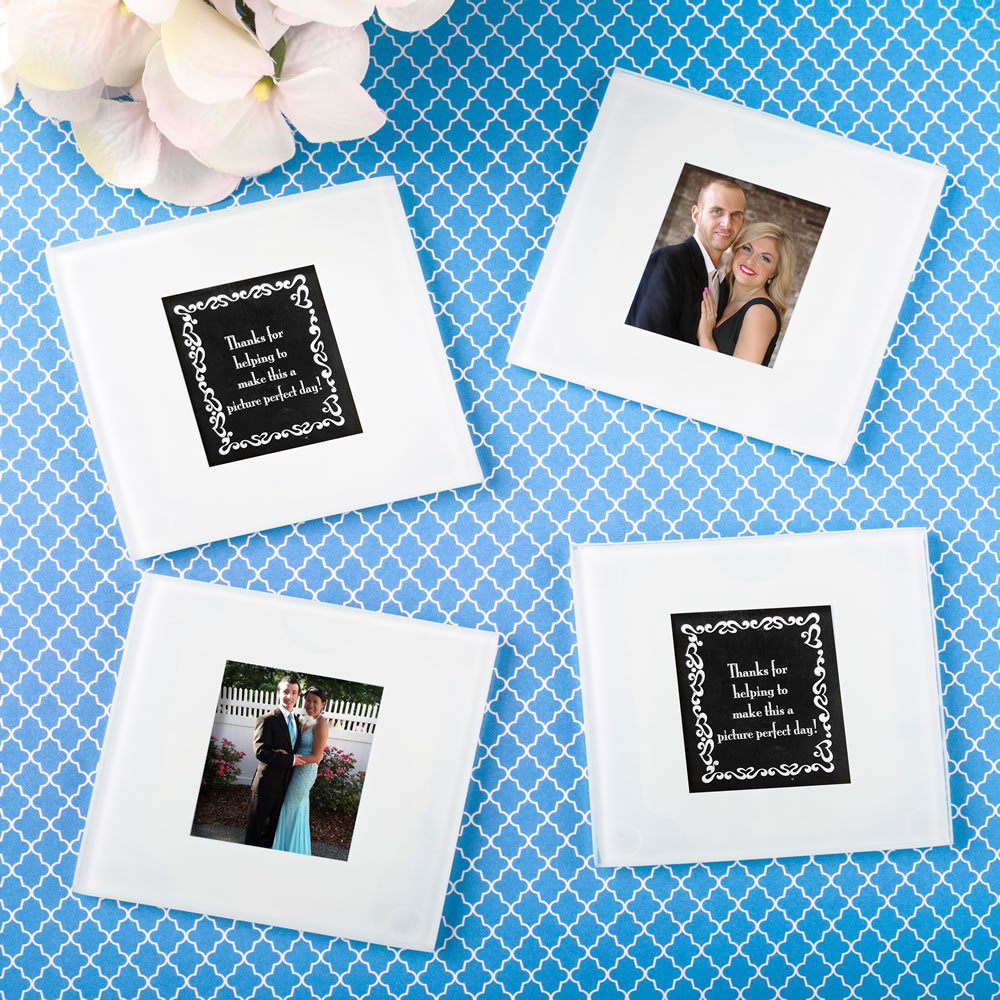 160 Perfectly plain collection Glass photo coaster