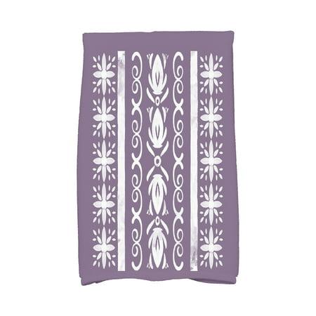 Simply Daisy, 16 x 25 Inch, Cuban Tile 2, Geometric Print Kitchen Towel, Purple
